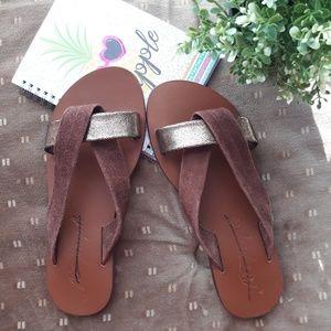 free people leather sandal